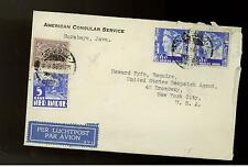 1936 Java Netherlands Indies US Consular Service Cover