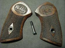 Webley Mk Mark IV Pocket Revolver Black Walnut Checkered Grips SHORT FRAME ONLY!