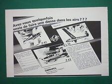 1970'S PUB OMNIPOL PLANEUR L-13 BLANIK AVION ZLIN TRENER Z.43 7.42 FRENCH AD