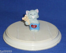 Hallmark Valentine Merry Miniatures Hugs and Kisses #3 Cat Hugging Mouse 1993
