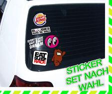 AUTO AUFKLEBER SET - TUNING SCHEIBEN STICKER -STICKERBOMB FUN SHOCKER DUB SKATER