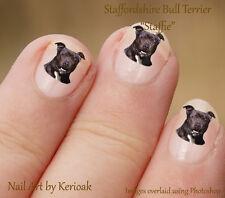 Staffordshire Bull Terrier, Staffie,  24 Dog Nail Art Stickers Decals