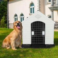 New listing Vilobos 3 Size Dog House Cat Pet Puppy Shelter Kennel All Weather Outdoor Indoor