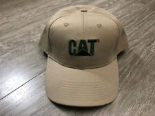Caterpiller CAT Adult Hat Cap Khaki New without Tag Used