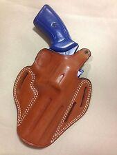 Leather PANCAKE Holster -  S&W K / L Frame Revolver, RUGER GP100  (# 8100 BRN)