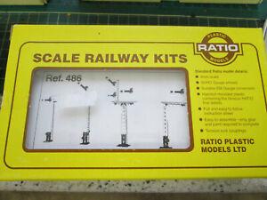 RATIO 486 LNER LATTICE SIGNALS   KIT  BOXED