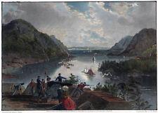 WEST POINT - New York Ansicht sehr schön kolorierter Stahlstich 1873 Original