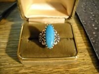 ~Carolyn Pollack Relios Sterling Silver Turquoise Detailed Ring~