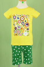 317 NEW Hanna Andersson girl 2pc set Yellow top green shorts  NWT Size 5