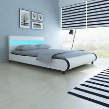 Cama y cabecera LED revestimiento cuero artificial diferentes colores y tamaños