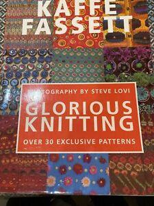 Glorious Knitting by Kaffe Fassett. Knitting Pattern Book with 30 patterns