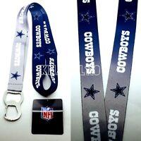 Dallas Cowboys NFL Keychain & Bottle Opener Lanyard