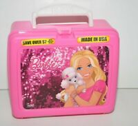 Mattel Barbie Thermos Lunch Box Tote Pink 2010 Barbie & Poodle