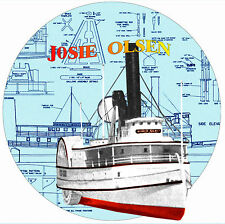 """Build This  37"""" Radio Control Paddle Wheeler River Boat Plans & Build note on Cd"""