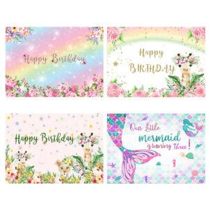 Happy Birthday Party Photography Background Cloth Backdrop Photo Studio Decor