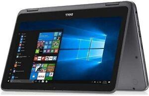 "Dell Inspiron 3000 2-in-1 11.6"" HD Touchscreen Laptop (A9-9420e 4GB 128GB) Grey"