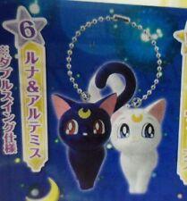 Bandai Sailor Moon 20th Anniversary Swing Gashapon Keychain Figure Luna Artemis