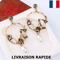 Boucle D'oreille Clou Oiseau Femme Bijoux Cadeau Soirée Mariage Fête Des Mères