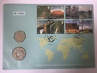 2005 UK & Australia 50p And 50 Cents World Heritage Sites First Day Coin Cover