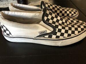 Checkered Vans Slip On Womens Size 8