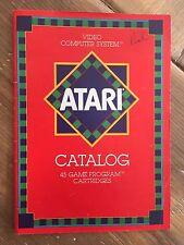 Vintage 1981 ATARI Video Game Catalog