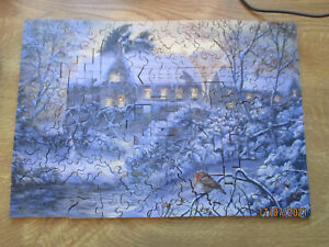 2001 Wentworth  Wooden Jigsaw Puzzle In The Deep Midwinter By Alan Fursland