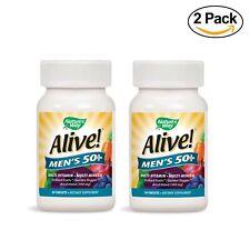 2 PK Nature's Way Alive Men's 50+ Plus MultiVitamin Tablet EXPIRE 8/2020