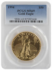 1994 - $50 1oz Gold American Eagle MS69 PCGS Blue Label