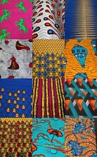 African Cotton Fabric Wax Print - Fat Quarter Bundle Scrap 4 Quilting Patchwork