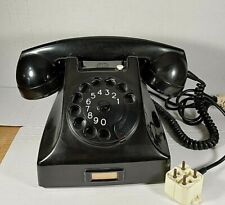 Vintage 1960's PTT ERICSSON RUEN Rotary Dial Desk Phone Made in HOLLAND Untested