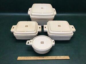 Vintage 8 Pcs Littonware Set Microwave Oven Casserole Dishes & Lids