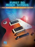 First 50 Rock Songs You Should Play on Electric Guitar, Paperback by Hal Leon...