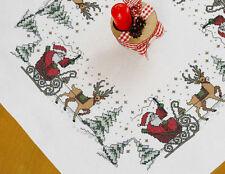 Stickpackung Decke 80x80 cm Weihnachtsmann Rentier 5157 KREUZSTICH Sticken