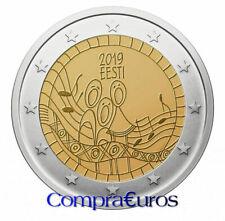 2 Euros Conmemorativos ESTONIA 2019 *Festival de la Canción* Sin Circular
