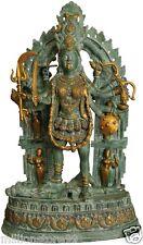 "JAI KALI Maa Mother God Statue 28"" Large Vintage Big Brass Figure Hindu Art 28Kg"