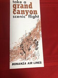 Bonanza Air Lines Grand Canyon Scenic Flight Brochure