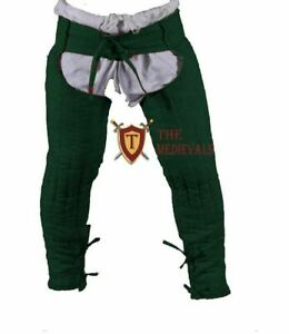 MEDIEVAL HAUBERK LAGGING THICK PADDED GAMBESON ARMOR CHAUSSES LOWER UNDER