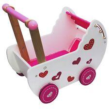 Holzwagen für Puppen mit Bettwäsche Puppenwagen Handwagen Kissen ECOTOYS