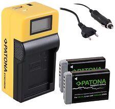 Patona BATERIA 1010mah nb-13l LCD 5 in1 cargador para Canon PowerShot g9 X