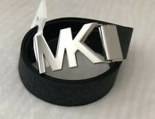 New MICHAEL KORS Women's Belt Size Small Reversible Black Brown Logo Buckle