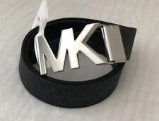 New MICHAEL KORS Women's Belt Size Medium Reversible Black Brown Logo Buckle