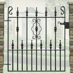 Safety Top Single Garden Gate | Wrought Iron Metal Steel Gates | 3ft 3in Opening