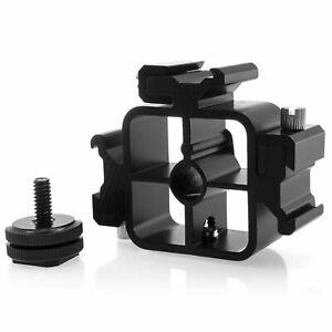 Xaiox Metal 3-Wege-Blitzschuh Mount Adapter Blitz Three + 1/4 Threaded Screw