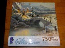 NEW Thomas Kinkade Christmas Moonlight SHIMMER 750 PCS Jigsaw Puzzle Sealed RARE