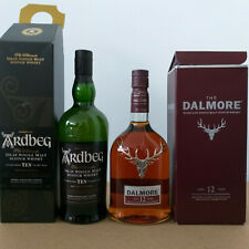 The Dalmore 12 Years Whisky + Ardbeg 10 Years Whisky Originalverpackungen