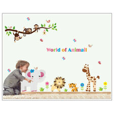 Jungle Zoo Safari Monkey Animal Wall Stickers Kids Room Nursery Decal Decor
