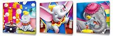 Dumbo Kids canvas wall art plaque pictures set of three
