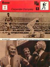 FICHE CARD: Jack Dempsey USA Georges Carpentier FRANCE  BOXE BOXING 1970s