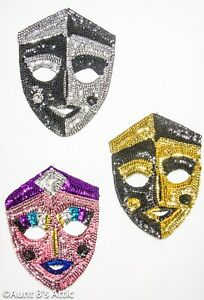 Mardi Gras / Theatrical Wall Decor Assorted Colorful Sequin Display Masks
