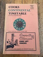 cooks continental timetable ( railway & local steamship services guide ) 1968
